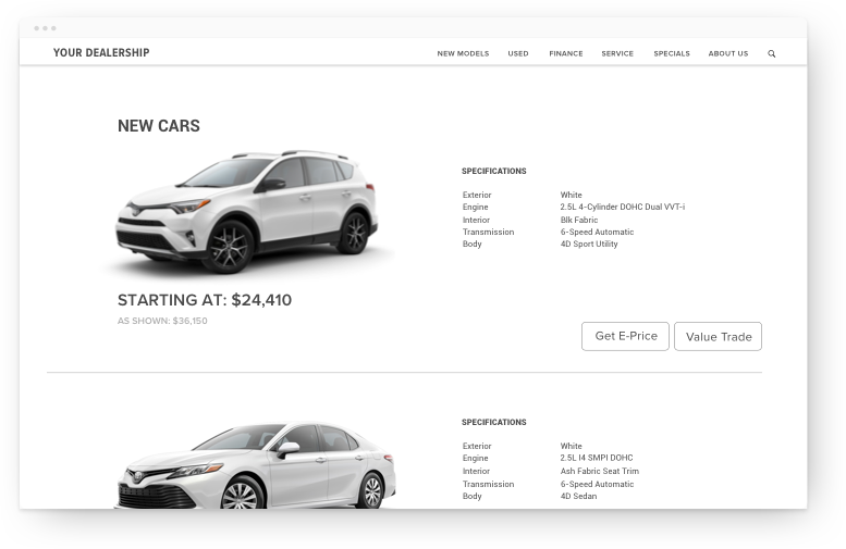 dealer website